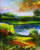 Atmospheric Landscape 1 by Graham Cox, Painting, Oil on canvas
