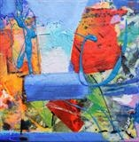 Cornish Coastal study 5 by Graham Cox, Painting, Mixed Media on Canvas