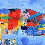 Cornish Coastal study 6 by Graham Cox, Painting, Mixed Media on Canvas