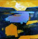Estuary Study F by Graham Cox, Painting, Oil on canvas