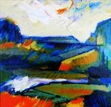 Landscape with Stream Study A by Graham Cox, Painting, Oil on canvas