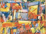 Landscape with building by Graham Cox, Painting, Mixed Media on Canvas
