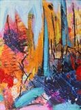 Movement through landscape 2 by Graham Cox, Painting, Mixed Media on Canvas