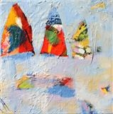 Pinnacles Study 5 by Graham Cox, Painting, Mixed Media on Canvas